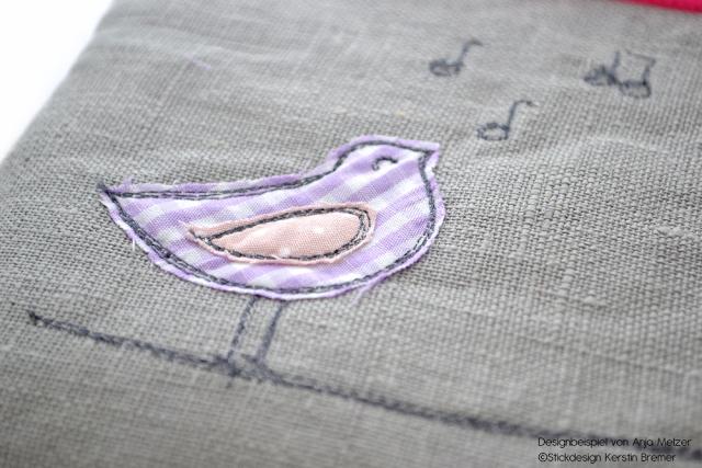 Vogel Doodle Stickdateien – Unser Juli 2015